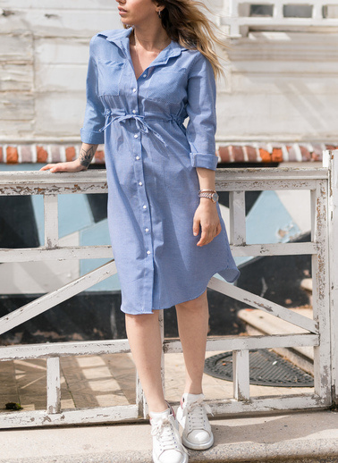 XHAN Elbise Mavi